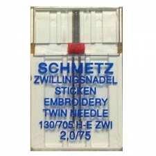 Двойная вышивальная игла Schmetz №75/2,0