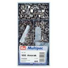 Кнопки Prym 390260 Anorak 15 мм серебристые Multipuc