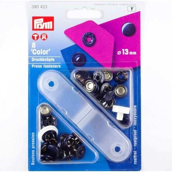 "Кнопки ""Color"" темно-синие 13мм - Швейкин"