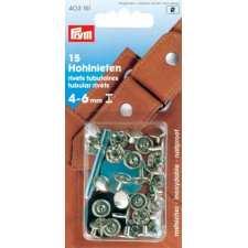 Клепки сріблясті з отвором 9 мм для товщини тканини 4-6 мм Prym 403151
