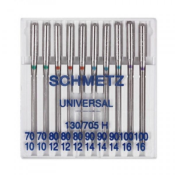 Иглы Schmetz универсальные №70-100, 10 шт - Швейкин