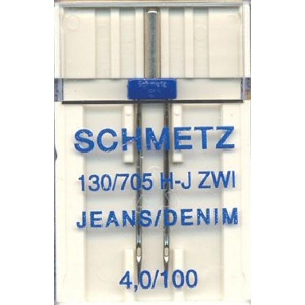 Двойная игла Schmetz Twin Jeans №100/4,0 - Швейкин