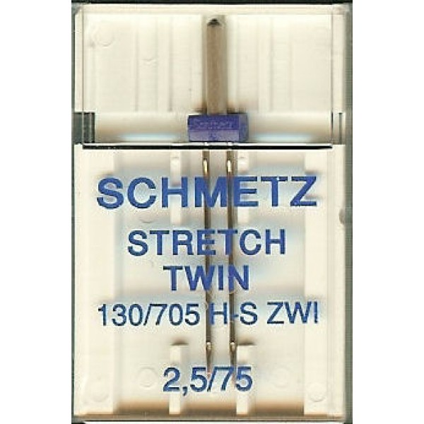 Двойная игла Schmetz Twin Stretch №75/2,5 - Швейкин