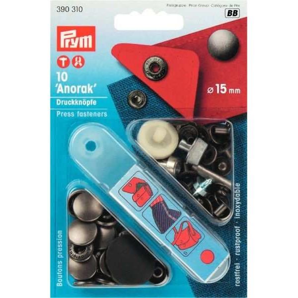Кнопки Prym 390310 Anorak 15мм залізо - Швейкин