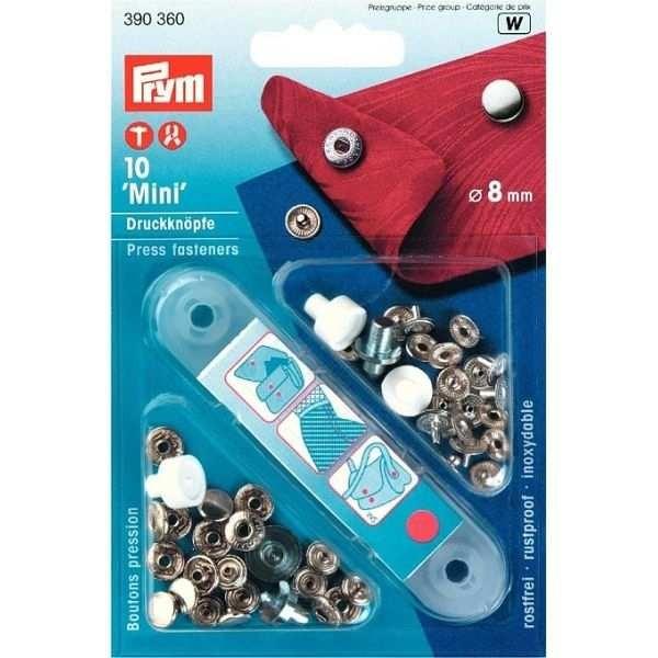 Кнопки Prym 390360 Mini 8 мм - Швейкин