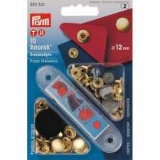 Кнопки Prym 390332 Anorak 12мм золотисті