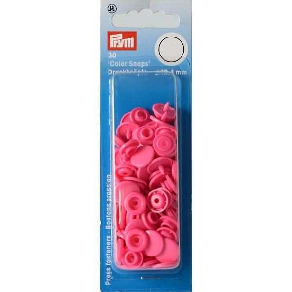 """Кнопки розовые """"Color Snaps"""" 12,4 мм Prym 393147 - Швейкин"""