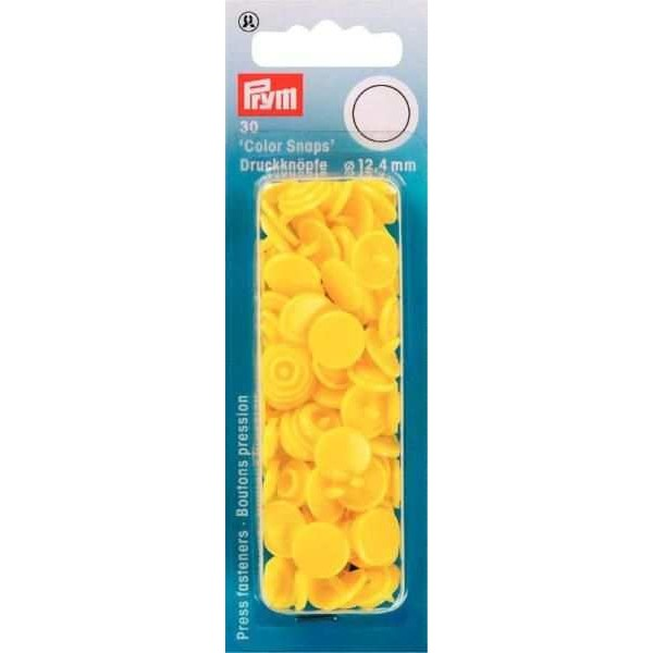 "Кнопки светло желтые ""Color Snaps"" 12,4 мм Prym 393107 - Швейкин"