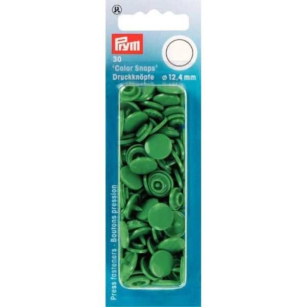 """Кнопки зеленые """"Color Snaps"""" 12,4 мм Prym 393151 - Швейкин"""