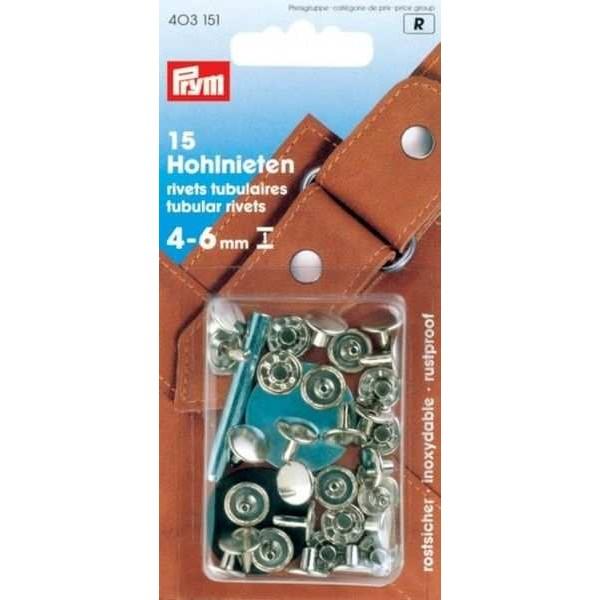 Клепки серебристые 9 мм Prym 403151 - Швейкин