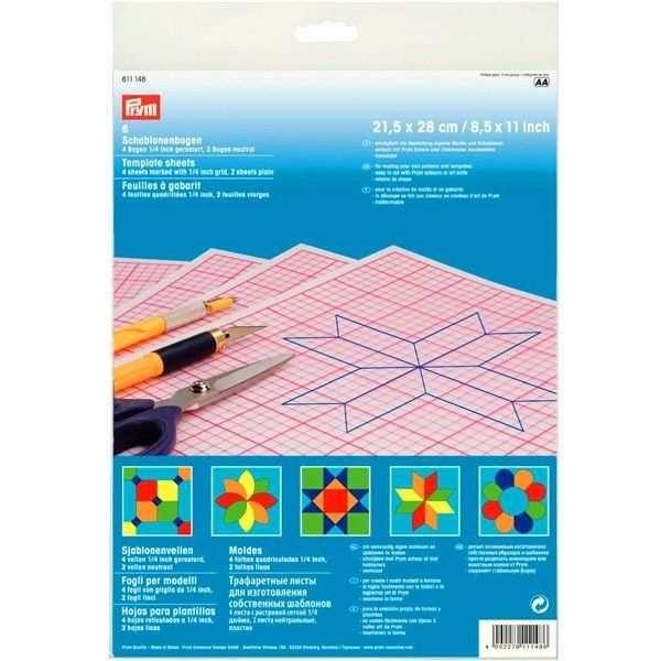 Трафаретные листы для шаблонов прозрачные Prym 611148 - Швейкин