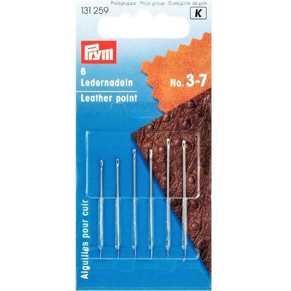 Иглы для кожи №3-7 Prym 131259 - Швейкин