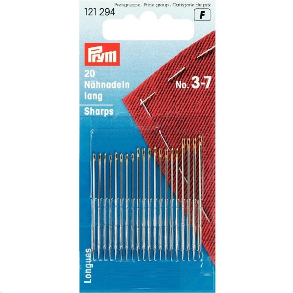 Иглы ручные для шитья №3-7 Prym 121294 - Швейкин