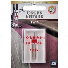 Голка подвійна універсальна Organ Twin №100/4.0